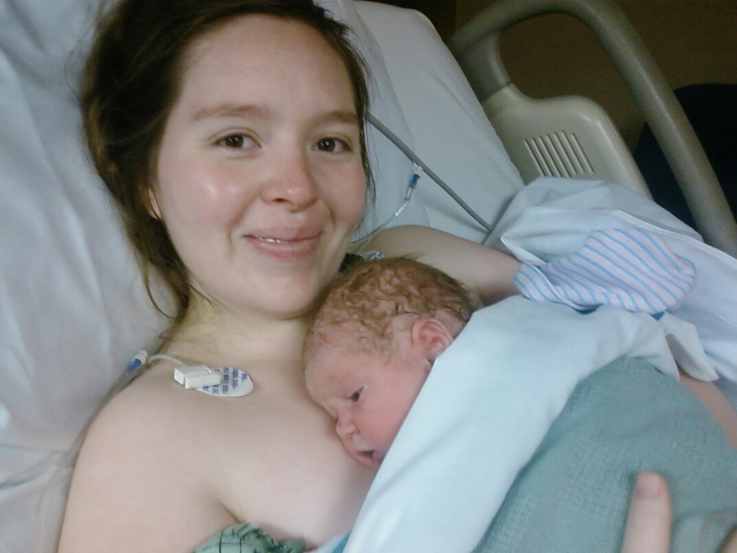 One happy mommy: Donita and baby bonding after birth
