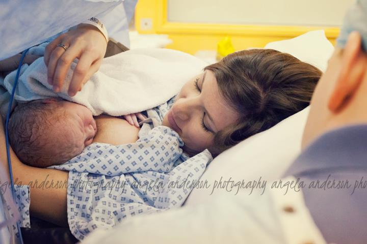 From the U.K.: baby went right to mom's chest and had delayed cord clamping, as well.